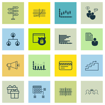 line up: Set Of 16 Universal Editable Icons For Marketing, Travel And Statistics Topics. Includes Icons Such As Report, Line Up, Schedule And More.