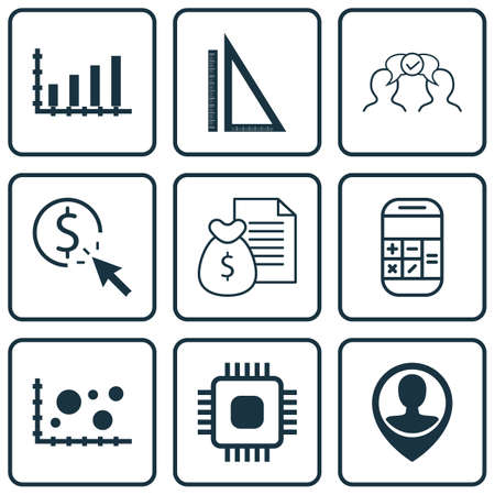 ppc: Set Of 9 Universal Editable Icons For SEO, Airport And Computer Hardware Topics. Includes Icons Such As PPC, Report, Comparsion And More.