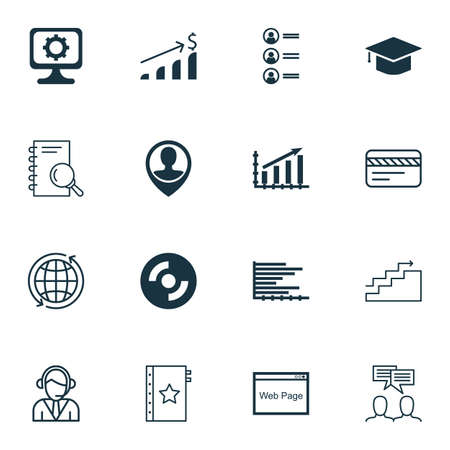 profit graph: Set Of 16 Universal Editable Icons For Airport, Education And Advertising Topics. Includes Icons Such As Profit Graph, Operator, PC And More.
