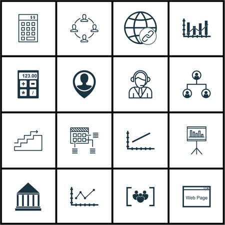raise: Set Of 16 Universal Editable Icons For Human Resources, SEO And Marketing Topics. Includes Icons Such As Raise Diagram, Schedule, Operator And More.