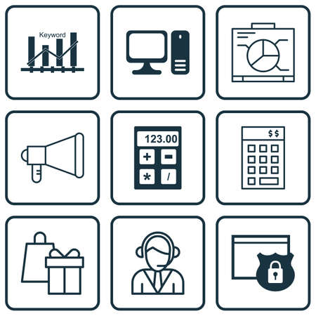 personal assistant: Set Of 9 Universal Editable Icons For SEO, Airport And Education Topics. Includes Icons Such As Operator, Investment, Desktop Computer And More.