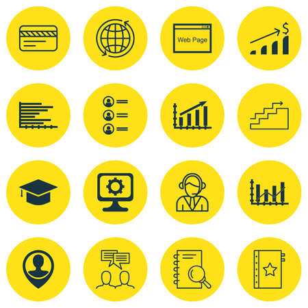 raise: Set Of 16 Universal Editable Icons For Education, Airport And Travel Topics. Includes Icons Such As Raise Diagram, Successful Investment, Graduation And More.