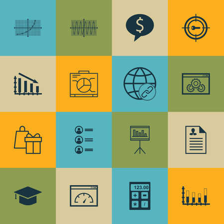 line up: Set Of 16 Universal Editable Icons For Project Management, Education And Advertising Topics. Includes Icons Such As Presentation, Keyword Marketing, Line Up And More.