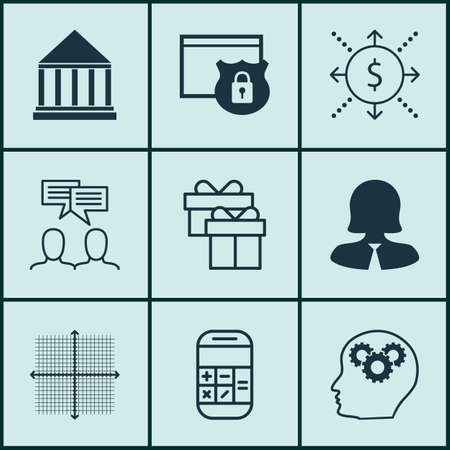 pillar box: Set Of 9 Universal Editable Icons For Marketing, Airport And Statistics Topics. Includes Icons Such As Graphical Grid, Discussion, Present And More.