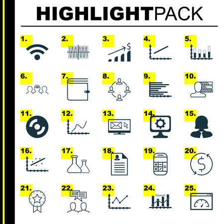 speaking tube: Set Of 25 Universal Editable Icons For Education, Airport And Advertising Topics. Includes Icons Such As Segmented Bar Graph, Business Woman, Keyword Optimisation And More. Illustration