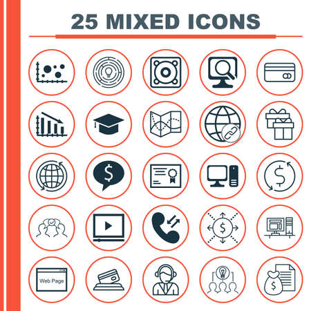 roaming: Set Of 25 Universal Editable Icons For Advertising, Human Resources And Business Management Topics. Includes Icons Such As Music, Connectivity, Cellular Data And More. Illustration