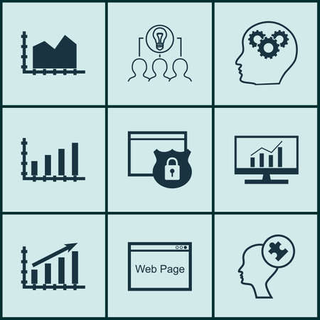 think safety: Set Of 9 Universal Editable Icons For SEO, Business Management And Marketing Topics. Includes Icons Such As Market Research, Brain Process, Dynamics And More.