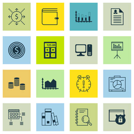 money time: Set Of 16 Universal Editable Icons For Education, Statistics And Project Management Topics. Includes Icons Such As Money, Time Management, Money And More.