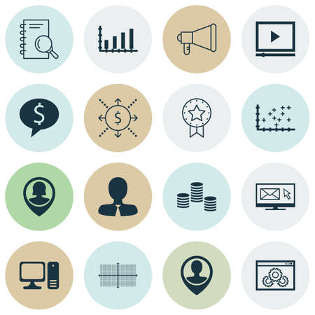 debt collection: Set Of 16 Universal Editable Icons For Project Management, Marketing And Computer Hardware Topics. Includes Icons Such As Square Diagram, Business Deal, Manager And More.