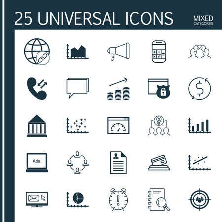 plot: Set Of 25 Universal Editable Icons For Marketing, SEO And Human Resources Topics. Includes Icons Such As Collaboration, Money Trasnfer, Security And More.