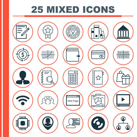 cosinus: Set Of 25 Universal Editable Icons For Education, Marketing And Statistics Topics. Includes Icons Such As Line Up, Cosinus Diagram, Wallet And More.