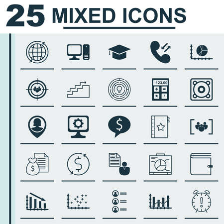 graduation countdown: Set Of 25 Universal Editable Icons For Statistics, Project Management And Marketing Topics. Includes Icons Such As Business Deal, Focus Group, Warranty And More.