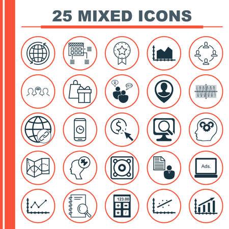 Ensemble de 25 icônes modifiables universelles pour l'aéroport, la gestion de projet et les ressources humaines. Comprend des icônes telles que l'insigne actuel, PPC, Coaching, etc.