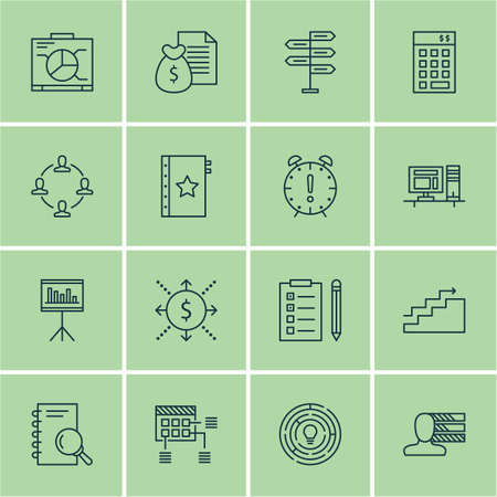personality development: Set Of Project Management Icons On Analysis, Schedule And Report Topics. Editable Vector Illustration. Includes Warranty, Teamwork And List Vector Icons.