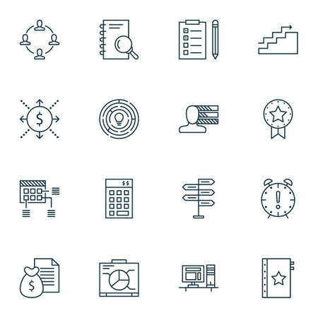 personality development: Set Of Project Management Icons On Innovation, Schedule And Opportunity Topics. Editable Vector Illustration. Includes Revenue, Finance And Warranty Vector Icons.