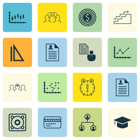 graduation countdown: Set Of 16 Universal Editable Icons For Project Management, Education And Business Management Topics. Includes Icons Such As Female Application, Curriculum Vitae, Stock Market And More.