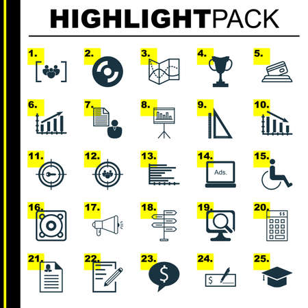 first form: Set Of 25 Universal Editable Icons For Project Management, Education And Human Resources Topics. Includes Icons Such As Bars Chart, Opportunity, Blank Cd And More.