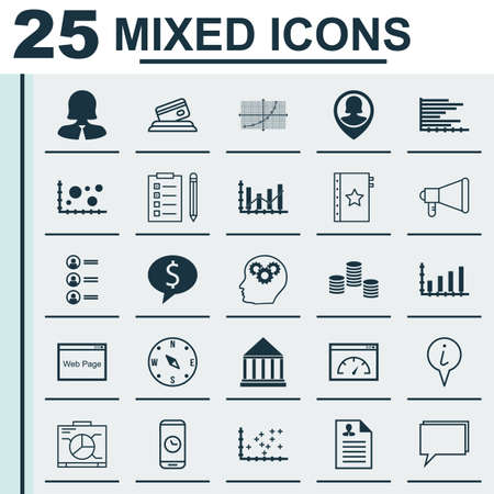 governmental: Set Of 25 Universal Editable Icons For Management, Statistics And Transportation Topics. Includes Icons Such As Raise Diagram, Bars Chart, Credit Card And More.