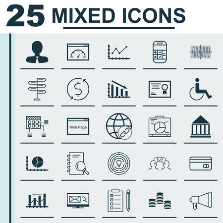 school bills: Set Of 25 Universal Editable Icons For SEO, Marketing And Traveling Topics. Includes Icons Such As Connectivity, Cosinus Diagram, Certificate And More.