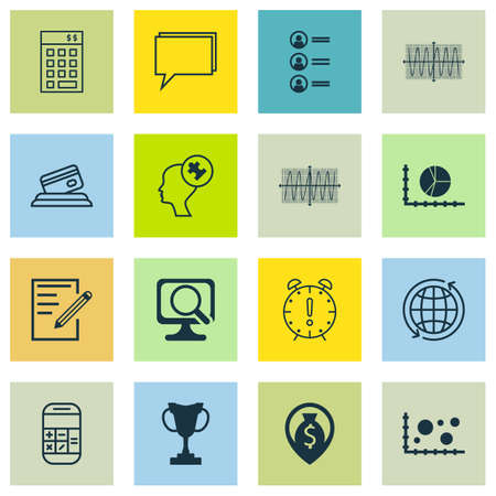 cosinus: Set Of 16 Universal Editable Icons For Statistics, Airport And Education Topics. Includes Icons Such As Cosinus Diagram, Credit Card, Money Navigation And More. Illustration