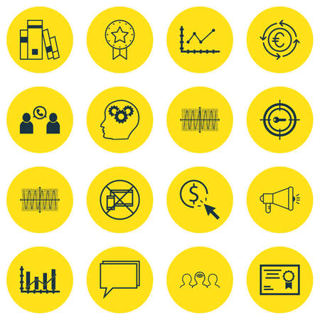 cosinus: Set Of 16 Universal Editable Icons For Airport, Project Management And Advertising Topics. Includes Icons Such As PPC, Certificate, Cosinus Diagram And More.