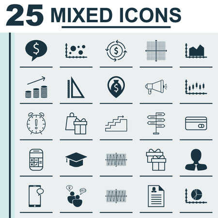 Set Of 25 Universal Editable Icons For Marketing, Traveling And Transportation Topics. Includes Icons Such As Business Deal, Shopping, Media Campaign And More.