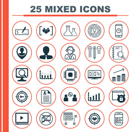 circuit sale: Set Of 25 Universal Editable Icons For Traveling, Statistics And Management Topics. Includes Icons Such As Dynamics, Innovation, Coins Growth And More.
