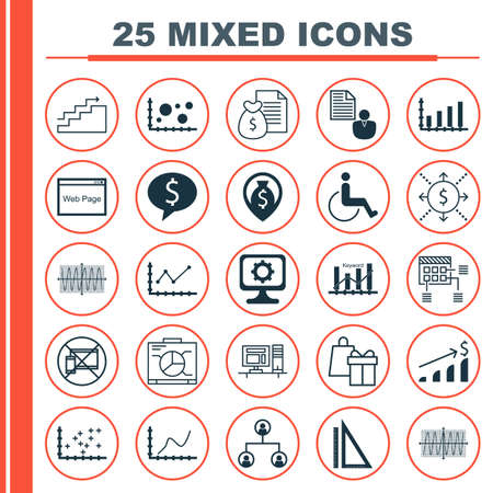 business deal: Set Of 25 Universal Editable Icons For Human Resources, Computer Hardware And Project Management Topics. Includes Icons Such As Business Deal, Sinus Graph, Tree Structure And More. Illustration