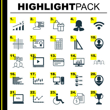 graphical chart: Set Of 25 Universal Editable Icons For Hr, Tourism And Travel Topics. Includes Icons Such As Job Applicants, Business Woman, Video Player And More.