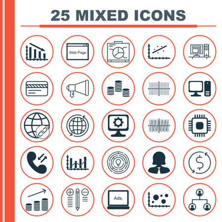 Set Of 25 Universal Editable Icons For Travel, Airport And Marketing Topics. Includes Icons Such As Innovation, Analytics, Business Woman And More.