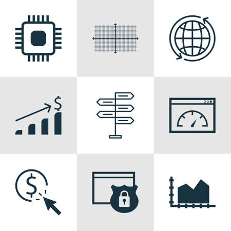 circuit sale: Set Of 9 Universal Editable Icons For Statistics, Computer Hardware And Human Resources Topics. Includes Icons Such As Chip, Security, Successful Investment And More.