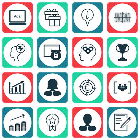 secured payment: Set Of 16 Universal Editable Icons For Business Management, Transportation And Advertising Topics. Includes Icons Such As Human Mind, Manager, Sinus Graph And More.