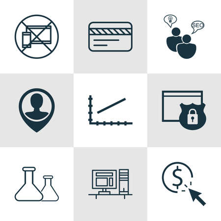 line up: Set Of 9 Universal Editable Icons For Project Management, Human Resources And Tourism Topics. Includes Icons Such As Chemical, Bank Card, Line Up And More.