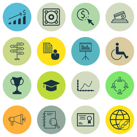 infirm: Set Of 16 Universal Editable Icons For Transportation, SEO And School Topics. Includes Icons Such As Tournament, Presentation, Successful Investment And More.