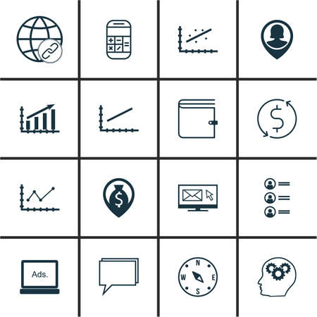 line up: Set Of 16 Universal Editable Icons For Management, Travel And Human Resources Topics. Includes Icons Such As Line Up, Pin Employee, Money Trasnfer And More.