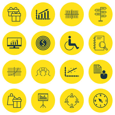 line up: Set Of 16 Universal Editable Icons For Project Management, Transportation And Business Management Topics. Includes Icons Such As Line Up, Profit Graph, Business Goal And More.