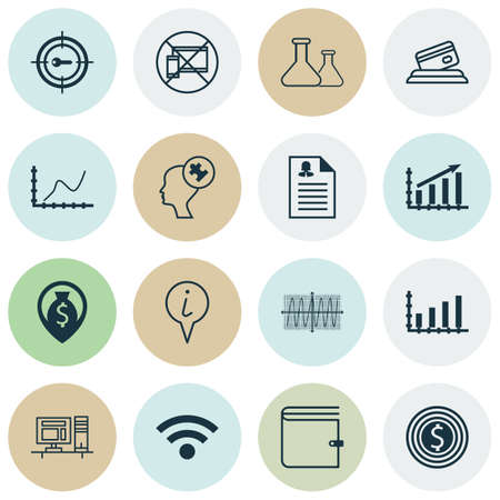 medical evaluation: Set Of 16 Universal Editable Icons For Advertising, Hr And Computer Hardware Topics. Includes Icons Such As Human Mind, Credit Card, Cosinus Diagram And More.