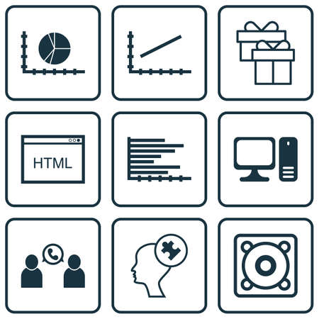 line up: Set Of 9 Universal Editable Icons For Business Management, Statistics And Traveling Topics. Includes Icons Such As Line Up, Human Mind, Circle Graph And More.