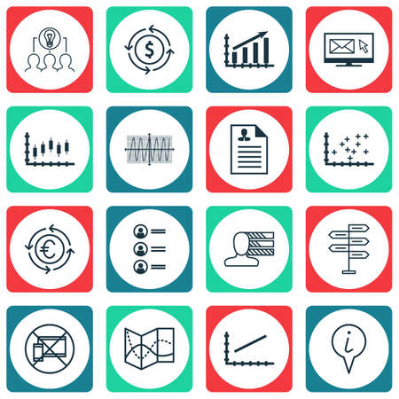 line up: Set Of 16 Universal Editable Icons For Business Management, SEO And Traveling Topics. Includes Icons Such As Collaborative Solution, Line Up, Newsletter And More.