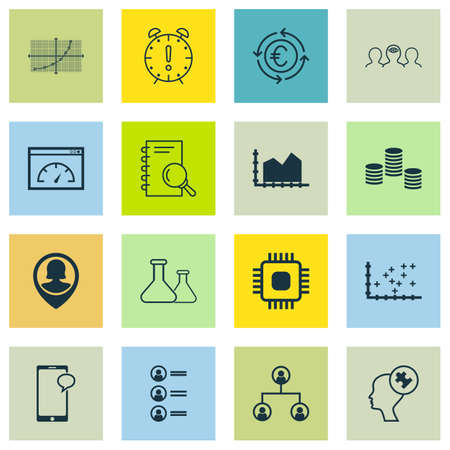 line up: Set Of 16 Universal Editable Icons For Statistics, Advertising And Business Management Topics. Includes Icons Such As Sequence Graphics, Line Up, Tree Structure And More.