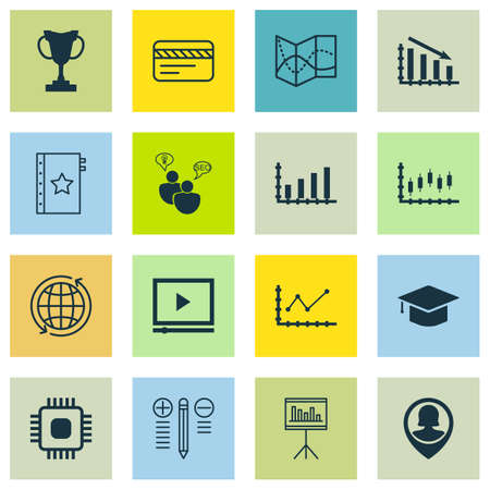 application recycle: Set Of 16 Universal Editable Icons For Education, Project Management And Airport Topics. Includes Icons Such As Changes Graph, Chip, Pin Employee And More.