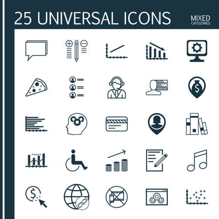 infirm: Set Of 25 Universal Editable Icons. Can Be Used For Web, Mobile And App Design. Includes Icons Such As PPC, Line Up, Connectivity And More.