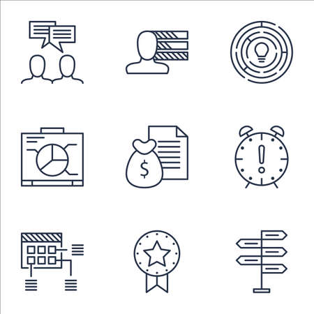 project charter: Set Of Project Management Icons On Schedule, Time Management And Opportunity Topics. Editable Vector Illustration. Includes Win, Chart And Report Vector Icons.