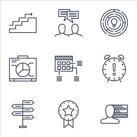 ability to speak: Set Of Project Management Icons On Innovation, Growth And Board Topics. Editable Vector Illustration. Includes Personal, Award And Win Vector Icons.