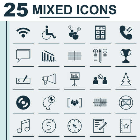 crotchets: Set Of 25 Universal Editable Icons. Can Be Used For Web, Mobile And App Design. Includes Icons Such As Presentation, Crotchets, Human Mind And More.