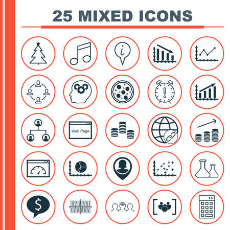 crotchets: Set Of 25 Universal Editable Icons. Can Be Used For Web, Mobile And App Design. Includes Icons Such As Crotchets, Pizza Meal, Info Pointer And More.