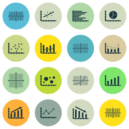 dynamic growth: Set Of Graphs, Diagrams And Statistics Icons. Premium Quality Symbol Collection. Icons Can Be Used For Web, App And UI Design. Vector Illustration, EPS10.