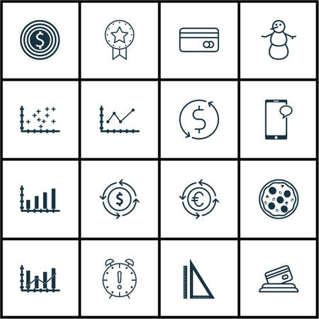 raise: Set Of 16 Universal Editable Icons. Can Be Used For Web, Mobile And App Design. Includes Icons Such As Changes Graph, Measurement, Raise Diagram And More. Illustration