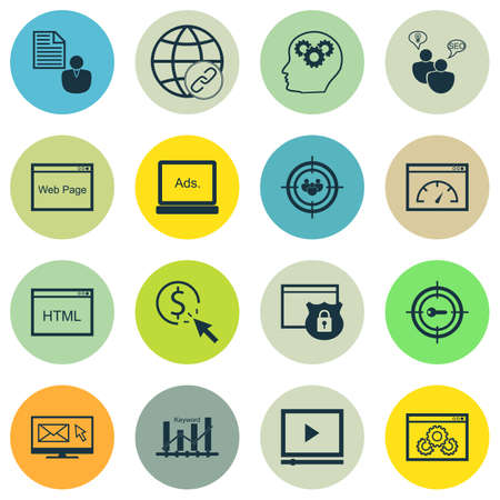 think safety: Set Of 16 Universal Editable Icons. Can Be Used For Web, Mobile And App Design. Includes Icons Such As Connectivity, Video Player, PPC And More. Illustration