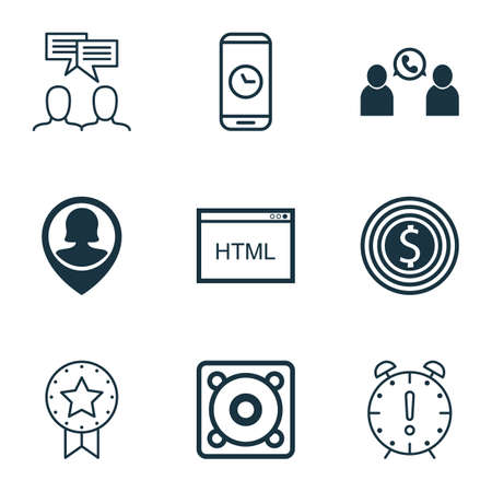 roaming: Set Of 9 Universal Editable Icons. Can Be Used For Web, Mobile And App Design. Includes Icons Such As Call Duration, Pin Employee, Music And More.